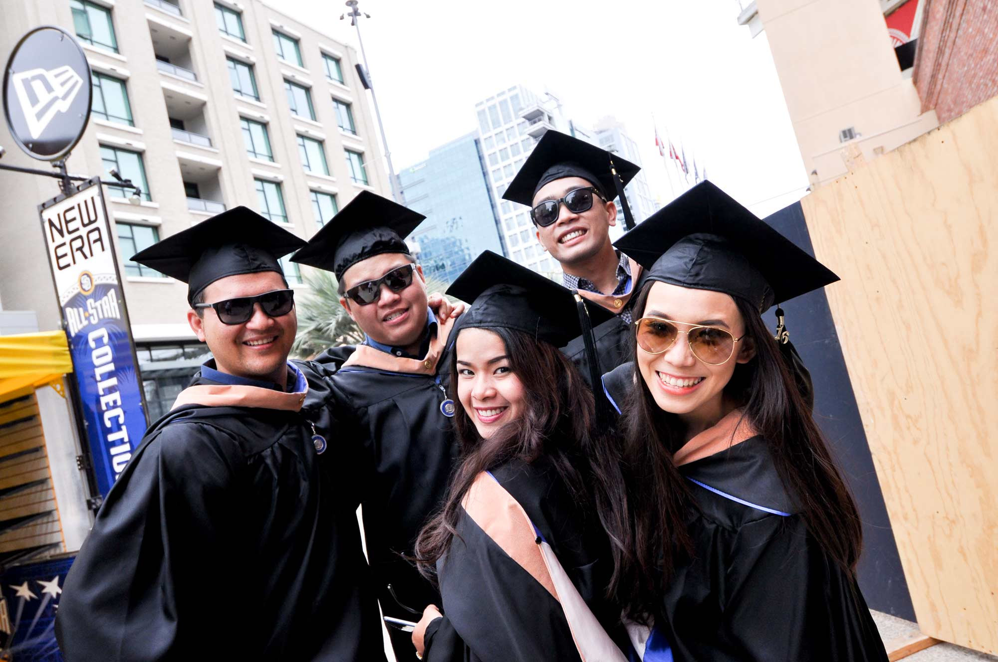 A group of students during their graduation day