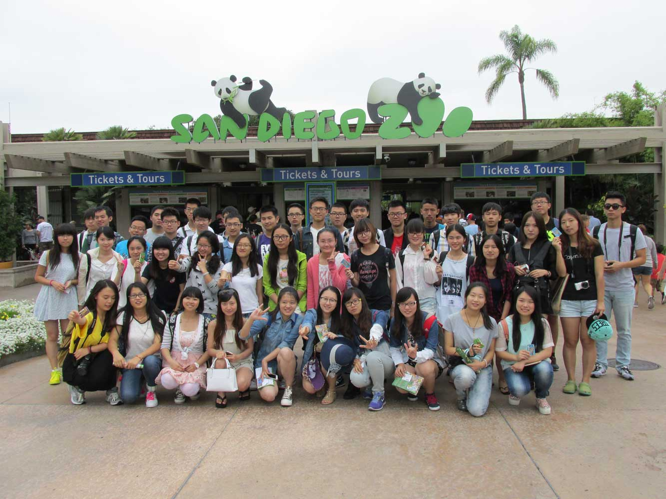 Group of students at the San Diego Zoo