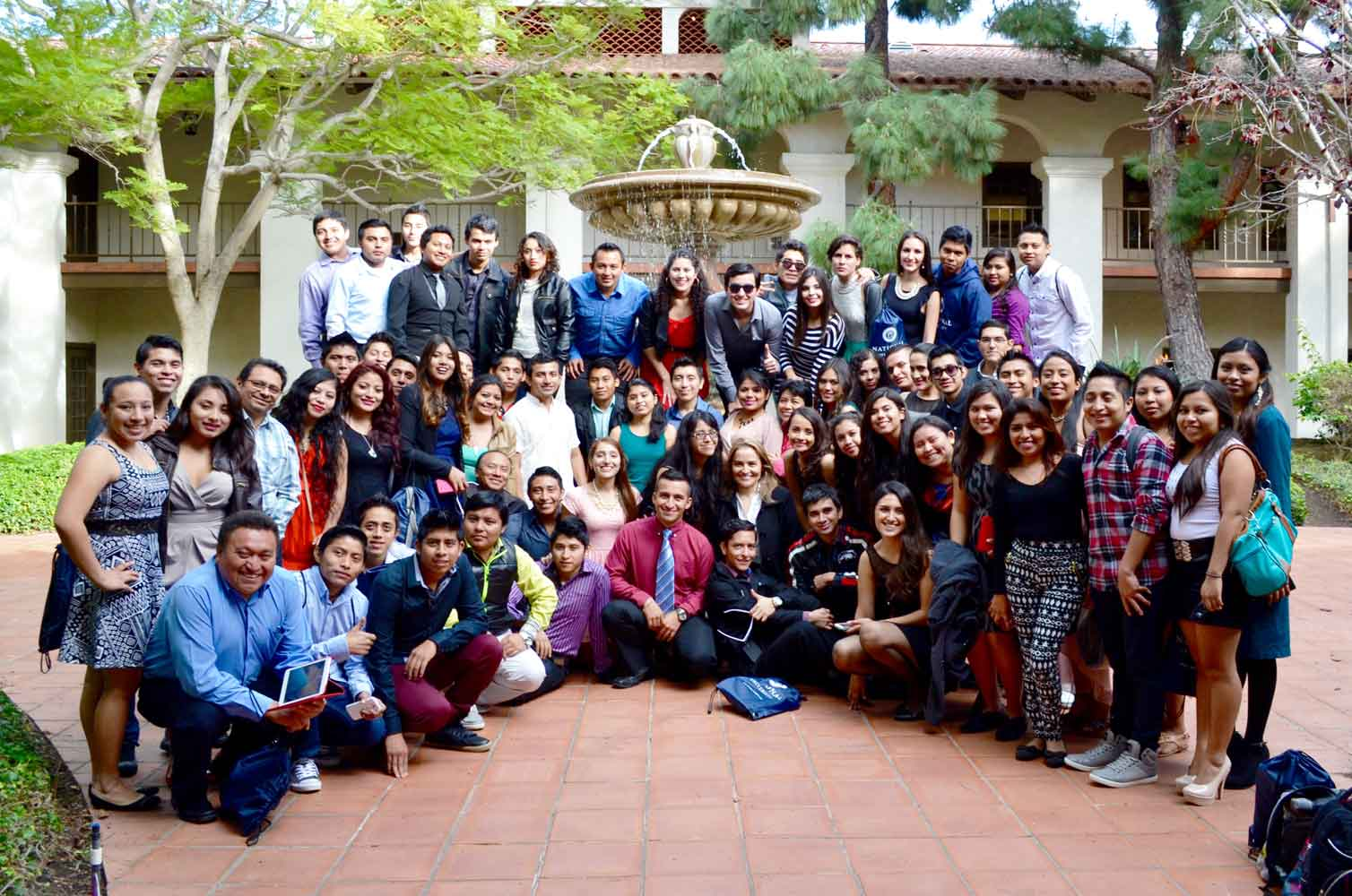 A group of international students.